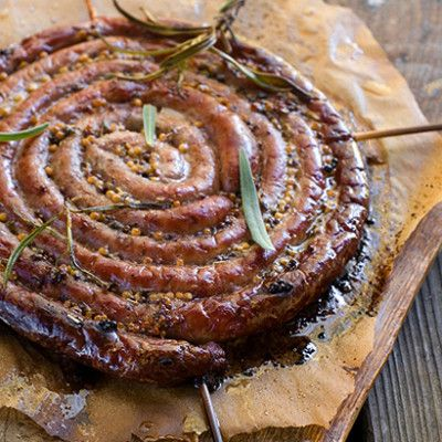 Taste Mag | Beer-marinated boerewors @ http://taste.co.za/recipes/beer-marinated-boerewors/