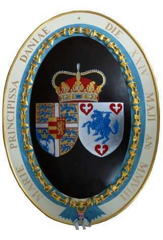 Crown Princess Mary of Denmark's coat of arms.