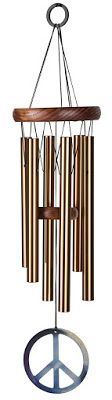 Bronze Woodstock Peace Chime - $20.68 Woodstock wind chimes are tuned to the notes of the hymn: Let There Be Peace on Earth and were created by Grammy Award winning musician Garry Kvistad.