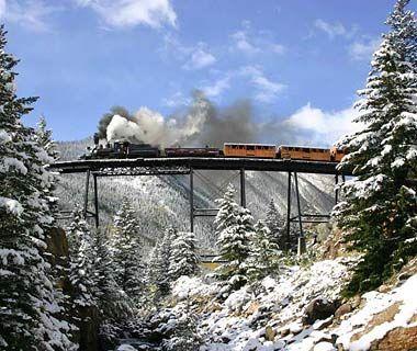 I live in Colorado so this shouldn't be a hard one ... Georgetown Loop Railroad, Colorado