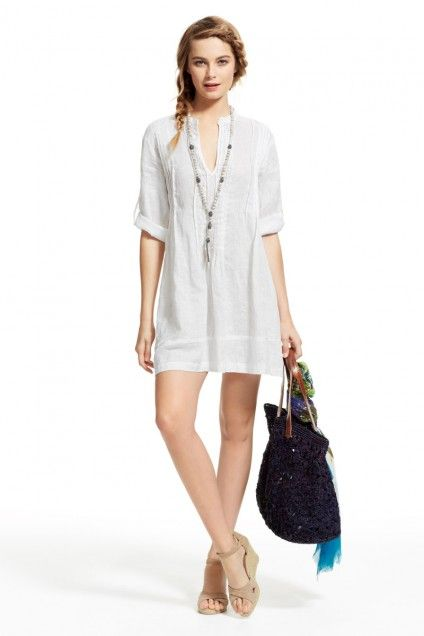 Regina White Linen Shirt Dress | Calypso St. Barth