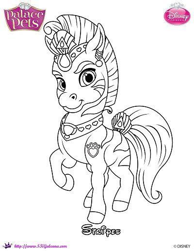 Princess Palace Pets Coloring Page of Stripes | SKGaleana