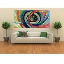 ücretsiz kargo 100% el boyalı duvar sanatı soyut gökkuşağı kasırga yağlıboya dekoratif renkli oturma odası sıcak(China (Mainland))