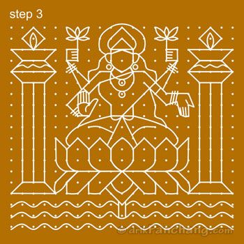 Diwali Rangoli Step 3