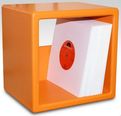 vinyl record (LP) storage cube