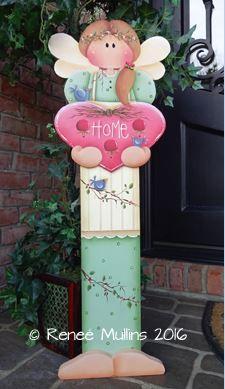 #689 Spring Angel Porch Greeter (PATTERN)