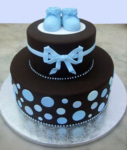 Cute And Simple Cake. Find This Pin And More On Baby Shower Cakes Boys ...