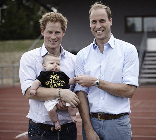 Prince Harry And Prince William, Duke Of Cambridge With A