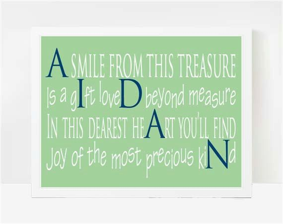 26 best aidan images on pinterest baby boys boy room and comic baby boy shower gift boy first birthday boy names custom baby gift baby nephew baby keepsake new baby gift personalized poem elijah negle Image collections