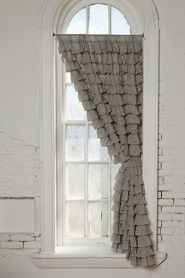 beautiful drape. soft gray and white :)