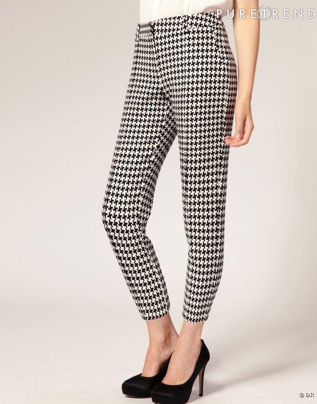 Tendance pied-de-poule : le shopping  Pantalon