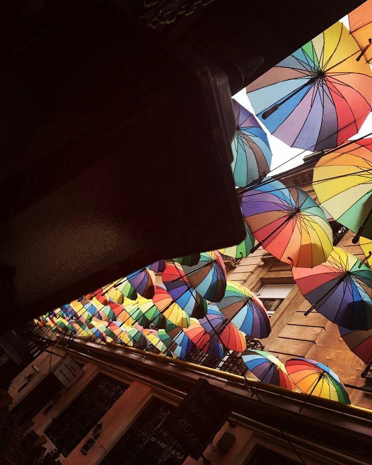 #umbrellas#rainbow#bucharest#happines#beauty