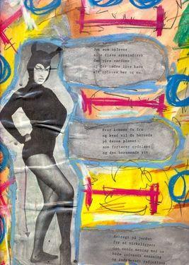 """Saatchi Art Artist Torben Dalhof; Collage, """"Bettie Page #3"""" #art"""