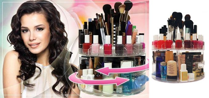 17.90€ για μία Περιστρεφόμενη Βάση Οργάνωσης Καλλυντικών - Cosmetics Organizer, με δύο επίπεδα, για να έχετε τα καλλυντικά σας οργανωμένα σε ένα μέρος και να βρίσκετε αμέσως αυτό που ψάχνετε! Αρχική 26€