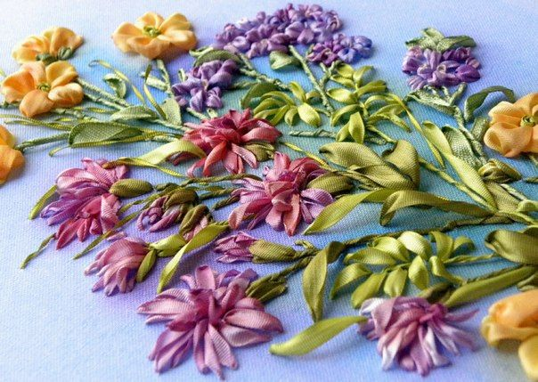 Silk ribbon embroidery: http://homedecoratingideasphotos.blogspot.com/2012/10/silk-ribbon-embroidery.html