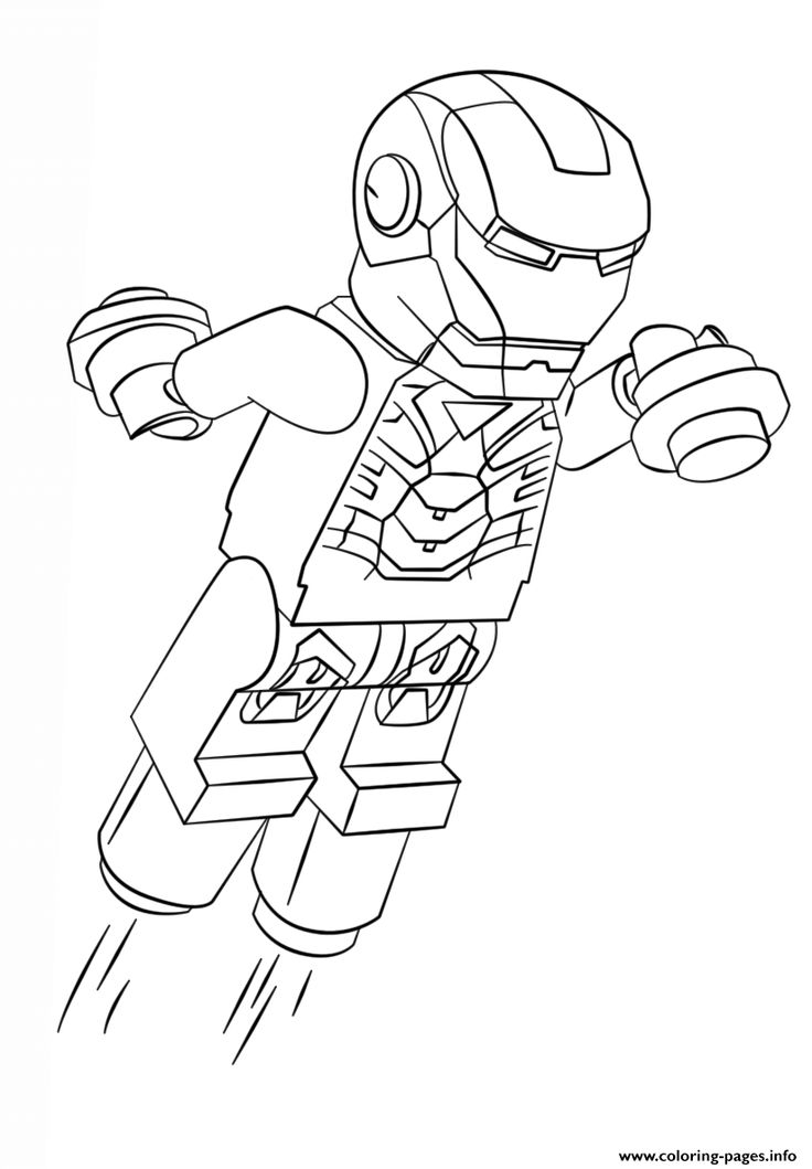 Print Lego Iron Man Coloring Pages