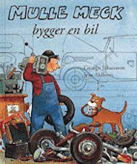 Mulle Meck bygger en bil av Jens Ahlbom och George Johansson.   Mulle Meck är en stor favorit hos Oskar och har varit det sedan start! Mulle bygger bil, båt, flygplan och hus och läsaren får vara med och klura på varför det först inte funkar.   3-6 år