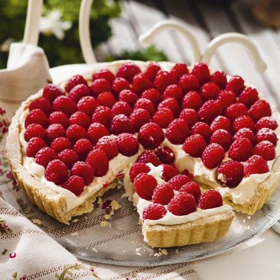 This Lemon and Raspberry Tart recipe really couldn't be quicker – an ...