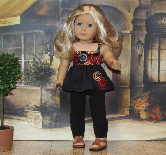 American Girl 18 Doll Clothes Cami Top Black by SillySchnauzer