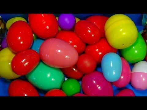 NEW Huge 101 Surprise Egg Opening Kinder Surprise Elmo Disney Pixar Cars Mickey Minnie Mouse - YouTube