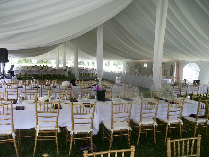 Rent everything you need for your next outdoor event with Party Palace Wedding and Tent Rentals in Bloomington, IL. Ask about our outdoor lighting rentals!