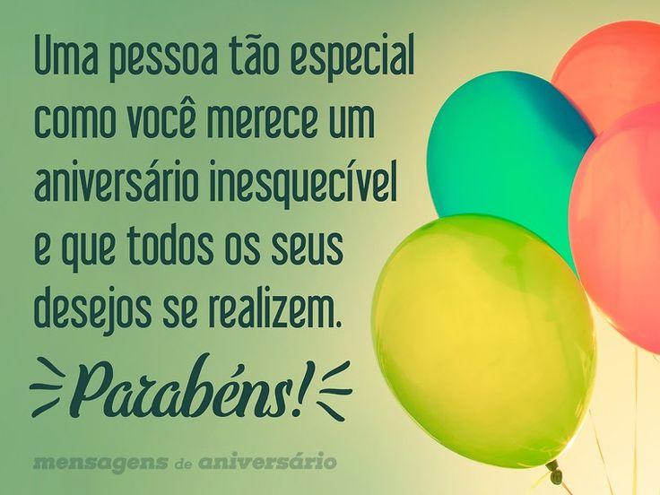 Uma pessoa tão especial como você merece um aniversário inesquecível e que todos os seus desejos se realizem. Parabéns! (...) https://www.mensagemaniversario.com.br/que-todos-os-desejos-se-realizem/