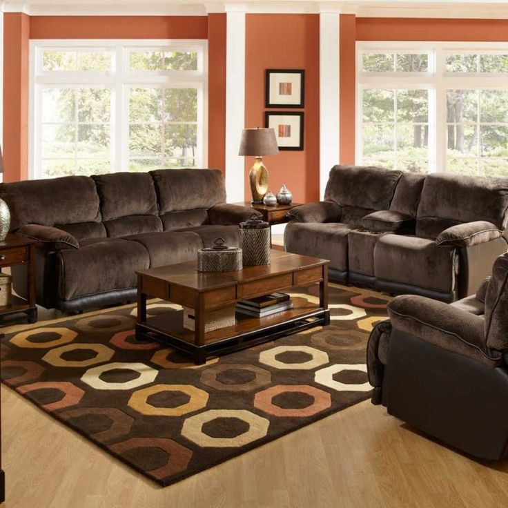 Best 25 chocolate brown couch ideas that you will like on for Living room decorating ideas with brown furniture