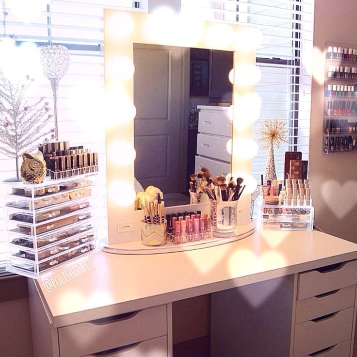 Diy Makeup Vanity 20 Of The Best Ideas Coiffeuses Rangement Makeup Deco Chambre