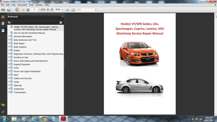 Preview of the Holden VF/WN & HSV Workshop Manual