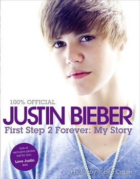 In this book Justin Bieber talks about his childhood and about how he got famous. Description from inthemiddlereading.blogspot.com. I searched for this on bing.com/images