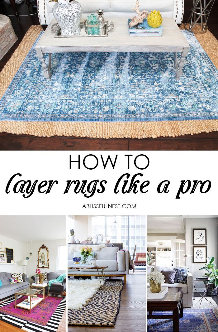 show some designer flare and learn how to layer rugs