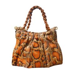 Tom Ford PYTHON RUCHED SHOULDER BAG WITH CHAIN