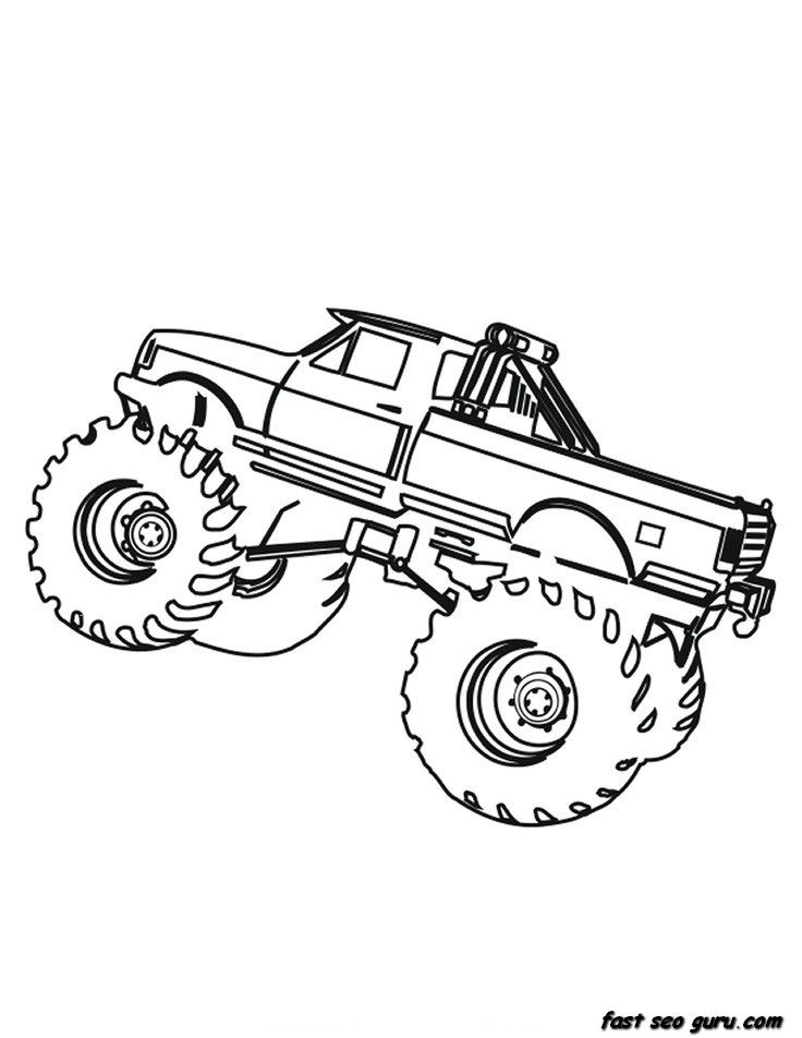 box truck coloring pages - photo#14