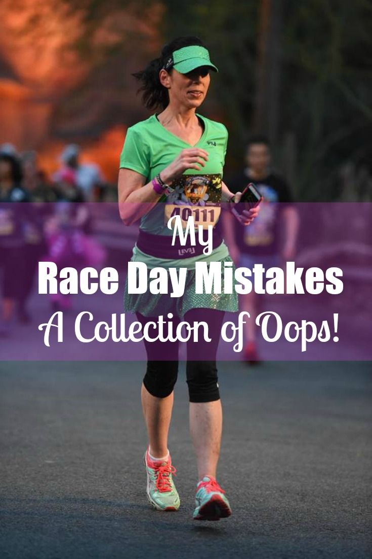 My Race Day Mistakes: A Collection of Oops