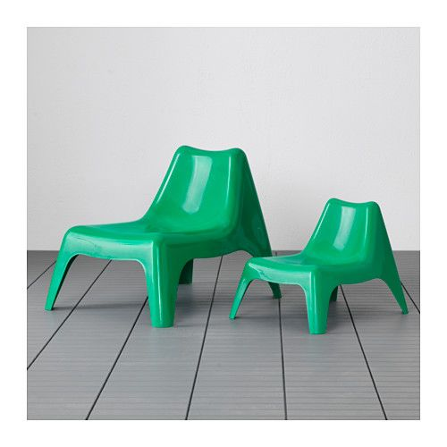 IKEA PS VÅGÖ Armless chair, outdoor - green, - - IKEA