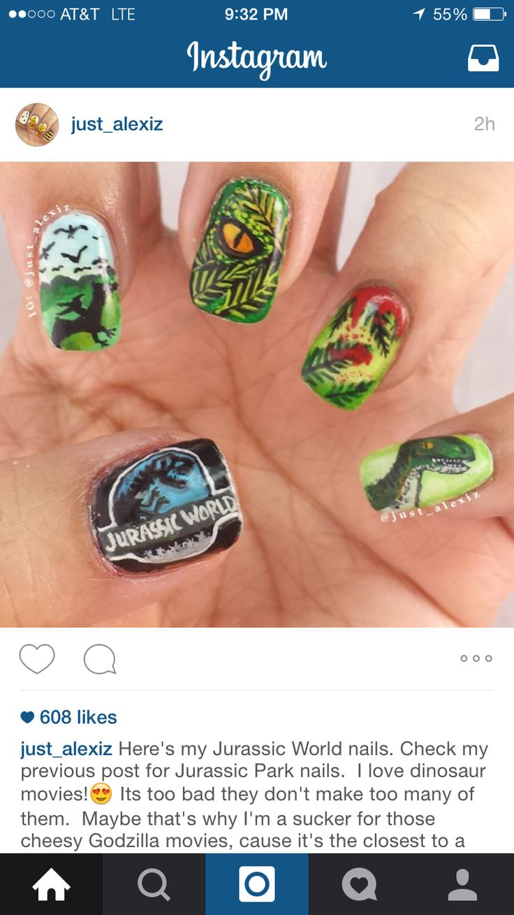 18 best Nails: Jurassic Park images on Pinterest | Jurassic park ...