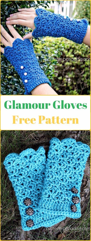 532 besten Crochet Gloves Bilder auf Pinterest | Handschuhe häkeln ...