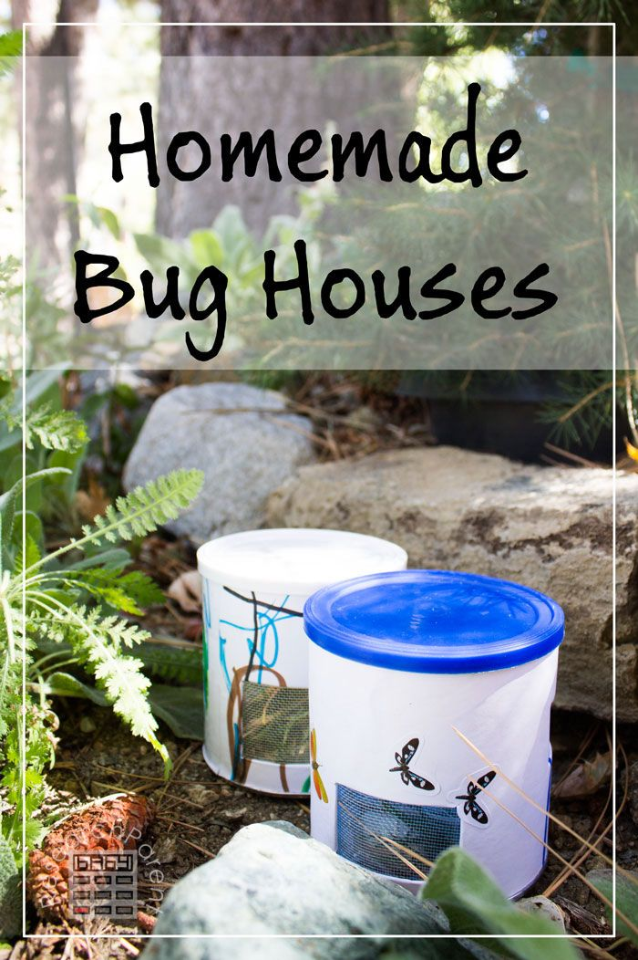 Tutorial for homemade bug houses using recycled material. A fun activity to get kids out exploring in nature. via @researchparent
