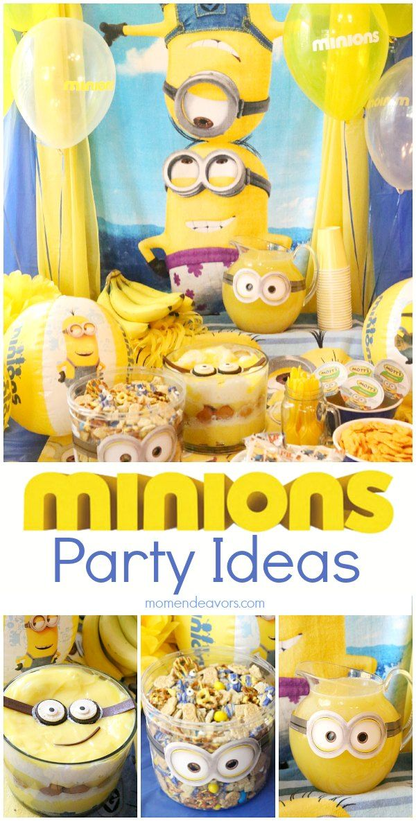 minions party ideas fun food ideas decor and more. Black Bedroom Furniture Sets. Home Design Ideas