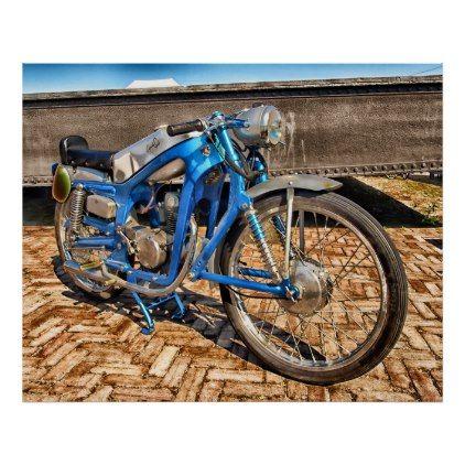 Classic capriola sport motorcycle poster – classic gifts gift ideas diy custom unique – Mina Moran