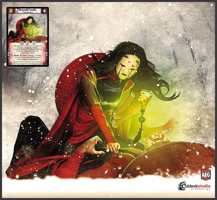 Ilustración que he realizado para la carta Bayushi Iyashi, Lady Sorrow que aparece en la nueva expansión The New Order del CCG The Legend of the Five Rings. Art for L5R The New Order card, Bayushi Iyashi, Lady Sorrow.