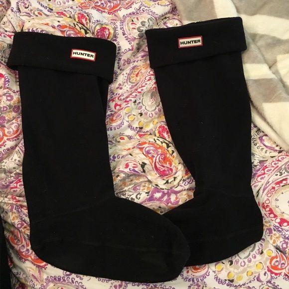 Hunter socks tall Black hunter socks. Tall boot Hunter Boots Accessories Hosiery & Socks