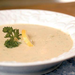 Lemon Artichoke Soup.  Artichoke hearts and lemon juice combine sweet and sour for a wonderful tasting soup.