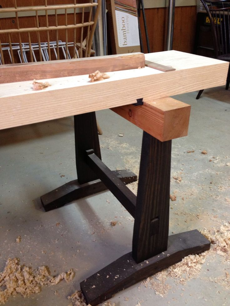A slab top for the japanese workbench digital woodworker for Table design tool