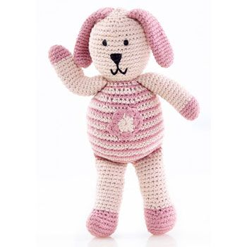 88 best easter gifts images on pinterest easter gift bunnies this adorable organic pink bunny by pebble is hand knitted under strict fair trade conditions from organic cotton a super easter gift idea negle Choice Image