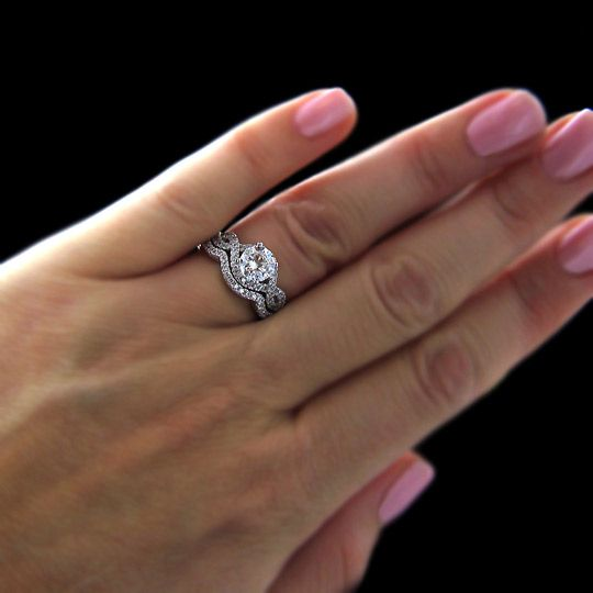 wedding engagement ring sets 25 best ideas about wedding ring set on 9442