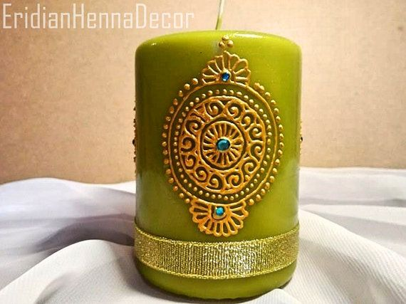 Mehndi For Candles : Best henna candles images
