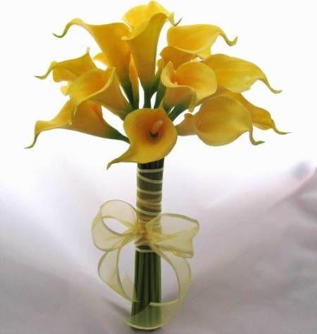 yellow tiger lily wedding center pieces | Buquê de Noiva AMARELO: Dicas de flores e como enfeitar!
