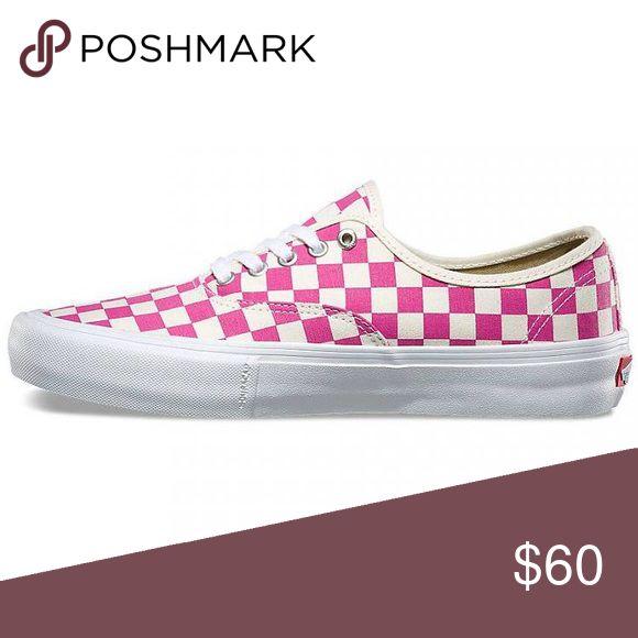 vans authentic pro(checkerboard)fuchsia 5/17 Vans Shoes Sneakers