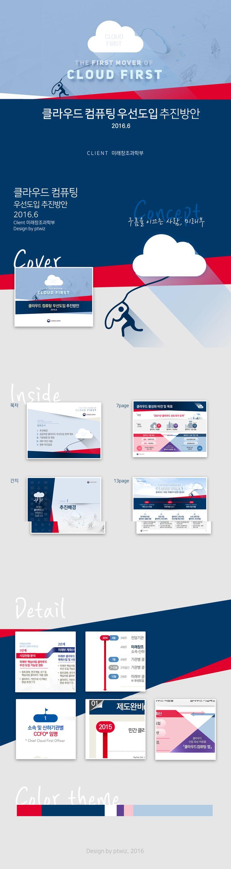 클라우드 우선도입 추진 방안 발표자료 / Presentation Design by PTWIZ / 클라이언트 : 미래창조과학부